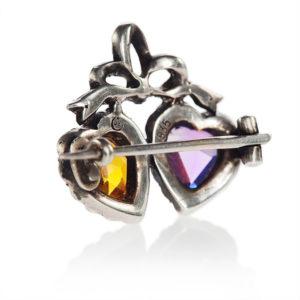 Victorian Paste Heart brooch-140