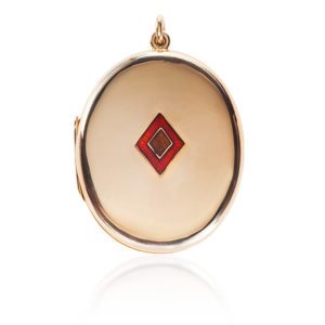 Early Australian 15 carat Gold Locket -0