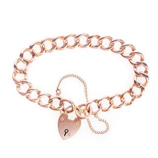 ***SOLD*** Antique Rose Gold Curb Bracelet-0