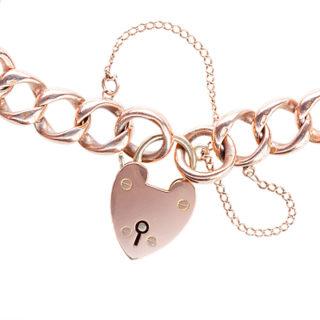 ***SOLD*** Antique Rose Gold Curb Bracelet-556