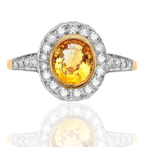 Hello Sunshine... Golden Sapphire and Diamond ring-0