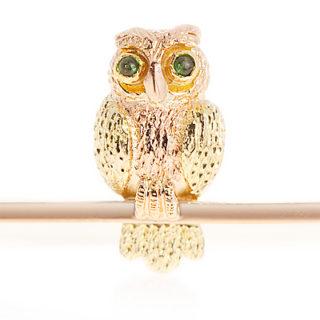 ***SOLD*** Exquisite Victorian Owl Brooch-0