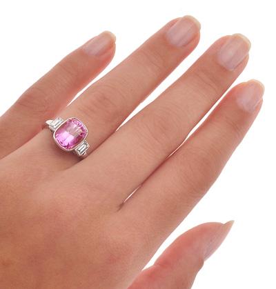 Helen Badge... Pink Sapphire and Diamond ring-1817