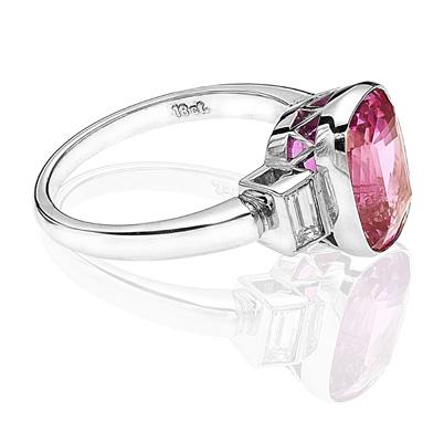 Helen Badge... Pink Sapphire and Diamond ring-1816