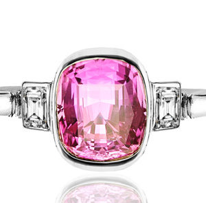 Helen Badge... Pink Sapphire and Diamond ring-0
