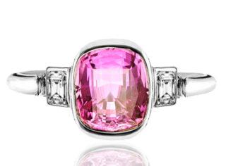 Helen Badge... Pink Sapphire and Diamond ring-0