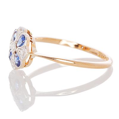 London Daisy... Original Art Deco Sapphire and Diamond ring-859