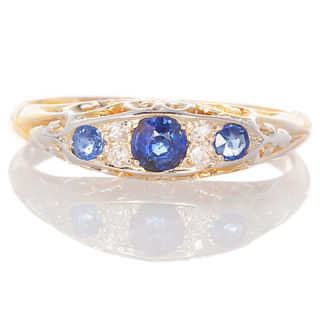 ***SOLD*** Victorian Sapphire and Diamond ring-0