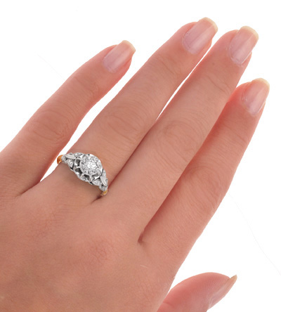 Our Love... Original Art Deco Diamond Engagement ring-924