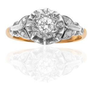 Our Love... Original Art Deco Diamond Engagement ring-0