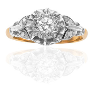 Our Love... Original Art Deco Diamond Engagement ring-0