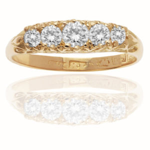 Lots of Sparkle... Five Stone Diamond ring-1060