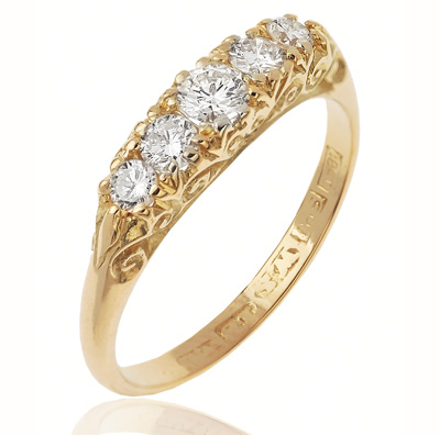 Lots of Sparkle... Five Stone Diamond ring-0