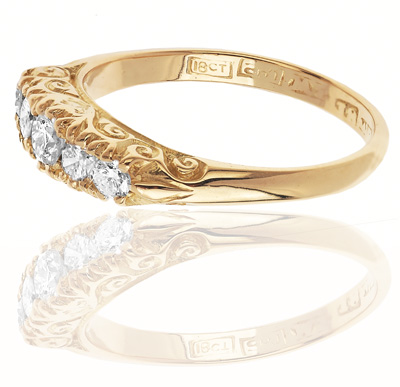 Lots of Sparkle... Five Stone Diamond ring-1062