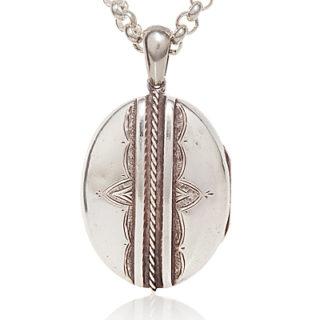 ***SOLD*** Large Victorian Sterling Silver locket -0