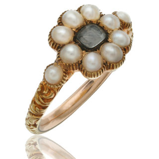 Georgian Pearl Mourning ring-0