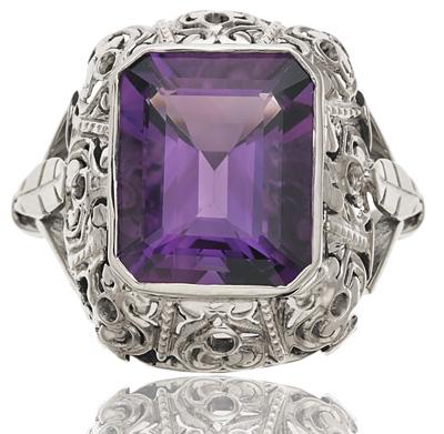 Purple Reign... Original Art Deco Amethyst ring-0