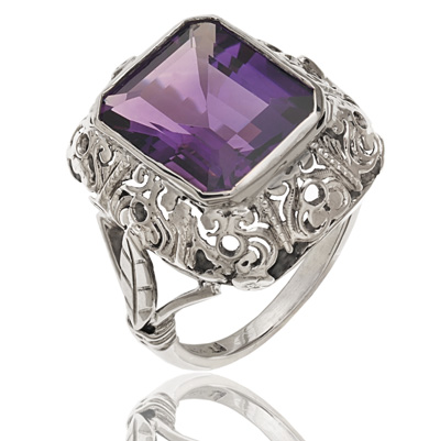 Purple Reign... Original Art Deco Amethyst ring-1269
