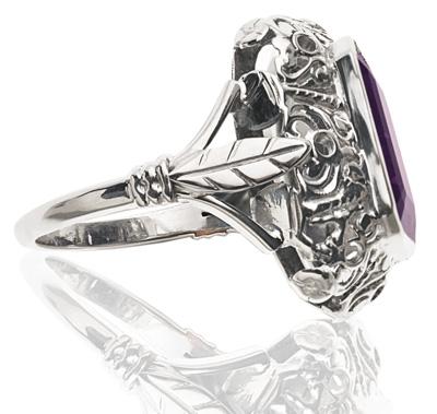 Purple Reign... Original Art Deco Amethyst ring-1270