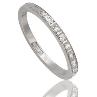 ***SOLD*** Original 1920s Diamond Wedding band-1389