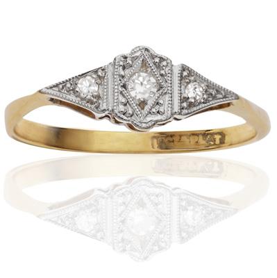 ***SOLD*** Original Art Deco Diamond ring-1608