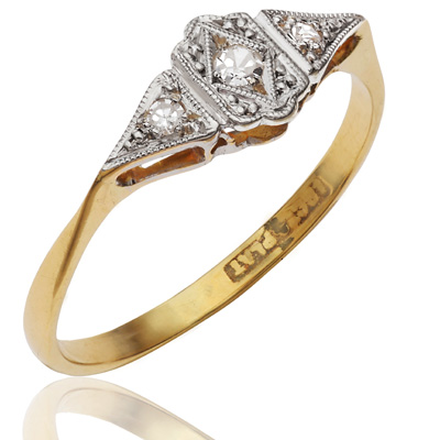 ***SOLD*** Original Art Deco Diamond ring-0