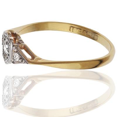 ***SOLD*** Original Art Deco Diamond ring-1610