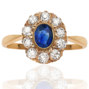 Yes Please... Antique Sapphire and Diamond ring-0