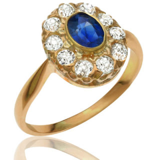 Yes Please... Antique Sapphire and Diamond ring-1617