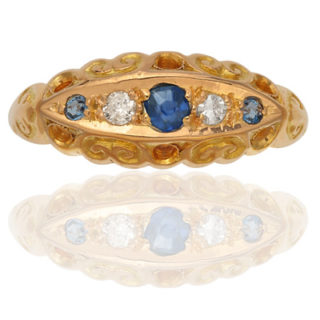 Antique Sapphire and Diamond ring-0