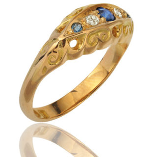 Antique Sapphire and Diamond ring-1621