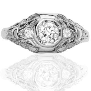 ***SOLD*** Original Art Deco Diamond Engagement ring-0