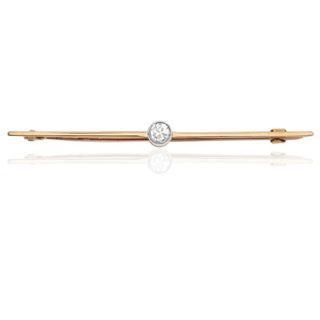1930s Diamond Bar Brooch-0
