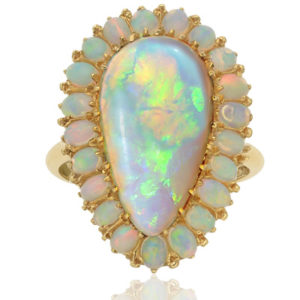 Show Stopper... Rare Large Opal Cocktail ring-0