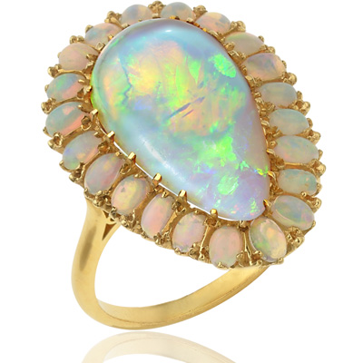 Show Stopper... Rare Large Opal Cocktail ring-1897