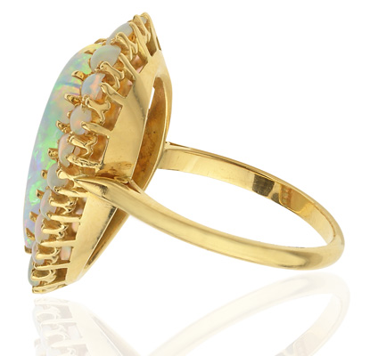 Show Stopper... Rare Large Opal Cocktail ring-1898