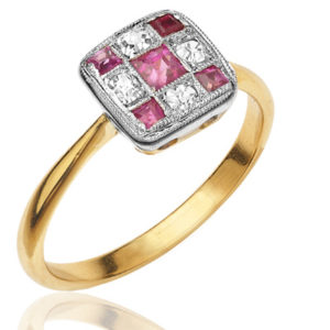 Stunning... Original Art Deco Ruby and Diamond ring-0