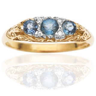 ***SOLD*** Baby Blue... Sapphire and Diamond ring-0
