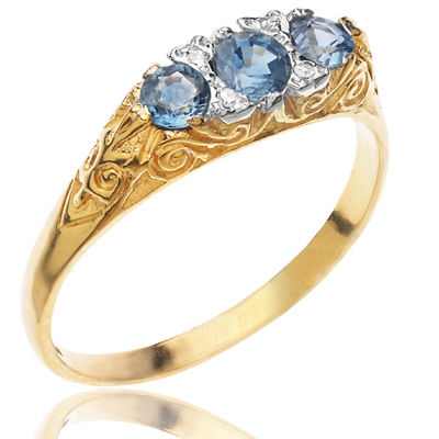 ***SOLD*** Baby Blue... Sapphire and Diamond ring-1988