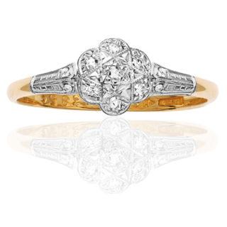 ***SOLD*** Daisy Daisy... Original Art Deco Diamond ring-0