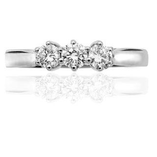***SOLD*** Platinum Diamond 'Trilogy' Engagement ring-0
