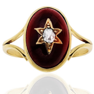 ***SOLD*** Antique Garnet and Diamond ring-0