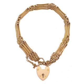 ***SOLD*** Delight... Antique Etched Gate Bracelet-0