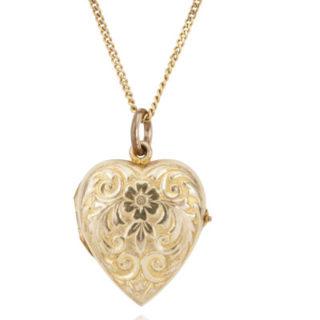 ***SOLD*** Antique Edwardian Gold Heart Locket-0