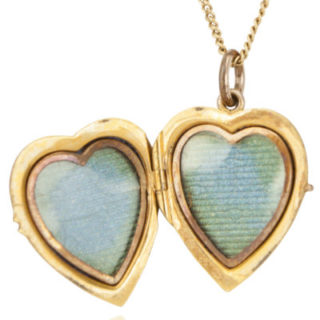 ***SOLD*** Antique Edwardian Gold Heart Locket-2320