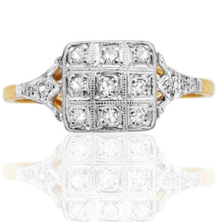 Gorgeous... Original Art Deco Diamond ring-0