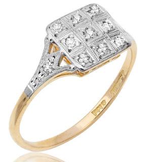 Gorgeous... Original Art Deco Diamond ring-2287