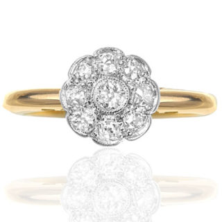***SOLD*** English Daisy... Original Art Deco Diamond Daisy ring-0