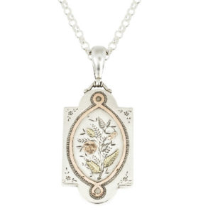 ***SOLD*** Antique Silver and Gold locket and chain-0