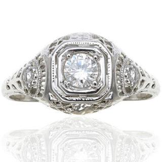 ***SOLD*** Cherish Forever... Original Art Deco Diamond Engagement ring-0